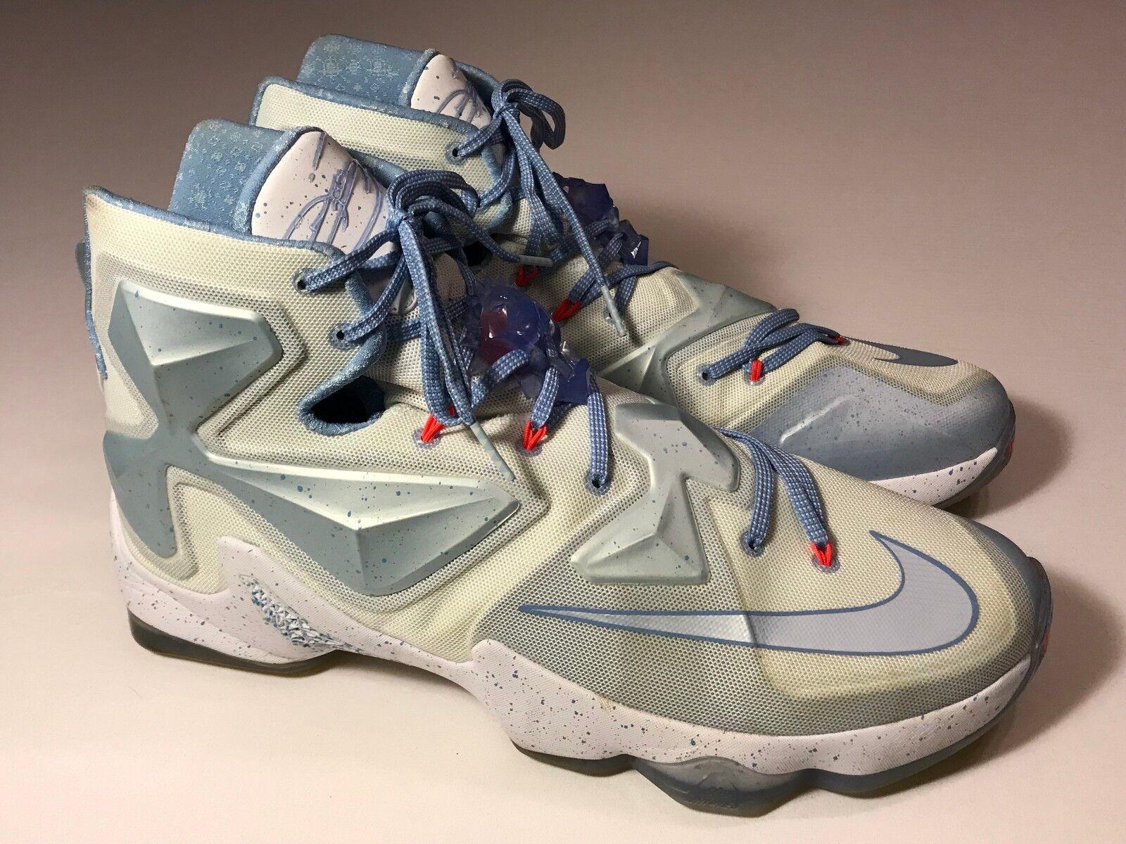 Nike lebron xiii 13 natale (816278-144) blu ghiaccio scarpe da basket uomini numero 13