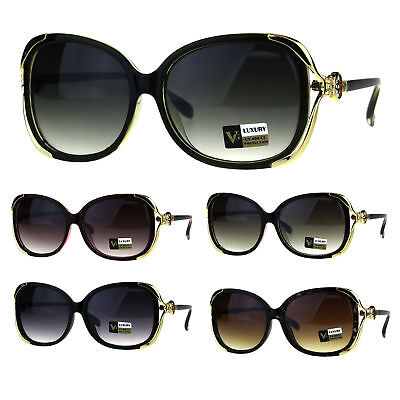 Womens Crucifix Cross Emblem Chic Fashion Plastic Butterfly Diva Sunglasses New