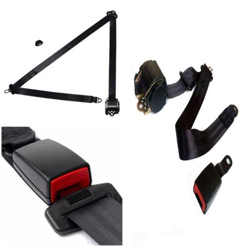 Auto 3 Point Seat Belt Lap /& Diagonal Belt Adjustable Straps Iron Plate Style