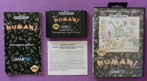 Humans-Sega-Genesis-1992-with-Box-and-Manual