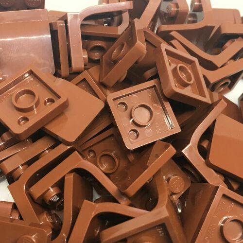 Lego 10 or 25 Reddish Brown Seat // Chair 2x2-4079 4079b - City etc New