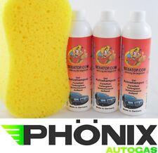 3x Autoshampoo Shampoo Auto Wäsche Reinigung 300ml mit Autoschwamm