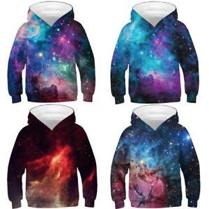 Galaxy Wolf 3D Print Kids Boys//Girls Hoodies Sweatshirt Pullover Jumper Coat Top