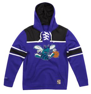 NEW Purple Charlotte Hornets Mitchell /& Ness NBA Sweatshirt Fleece Hoodie