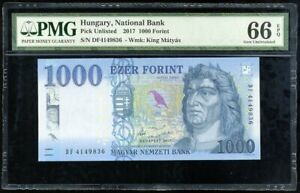 2017 UNC Hungria Hungary 1000 1,000 Forint 2018 P-New