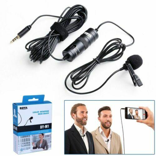 Boya BY-M1 Clip de micrófono de solapa omnidireccional Para Cámaras Teléfono Inteligente