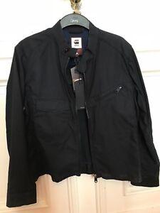 Details zu G Star GStar Herren stylische Jacke Coat Blau Denim Gr. L NEU mit Etikett
