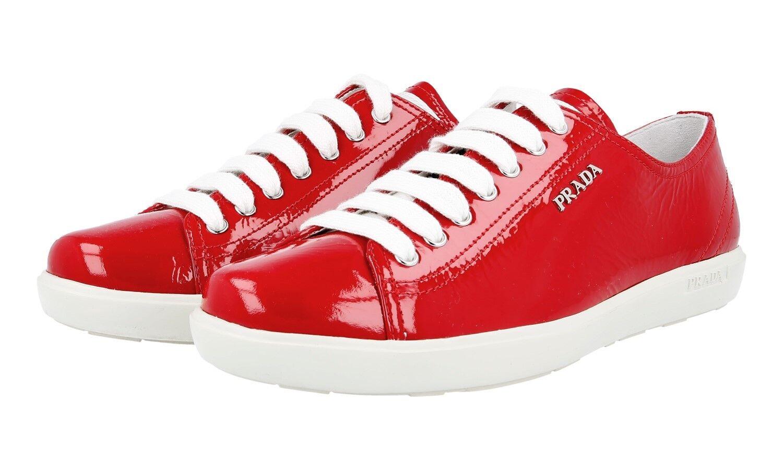 Lujo prada cortos charol óptica zapatos 3e5534 rojo nuevo nuevo rojo New 40 40,5 UK 7 bd3431