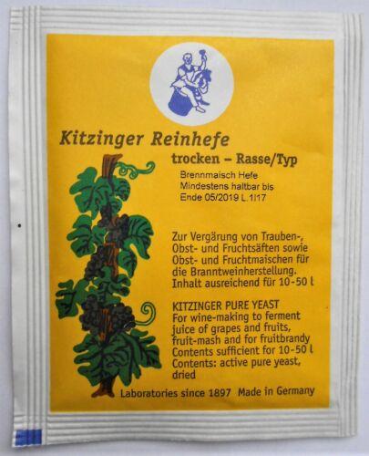 BRENNMAISCH für 10-50l Wein KITZINGER WEINHEFE TROCKENHEFE REINHEFE