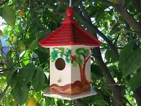 Bird House Farmhouse Bird House Station Wooden Garden Decorations , Birdhouse
