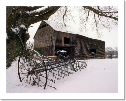 C Old Barn In The Snow Art Print Home Decor Wall Art Poster