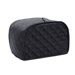 2-Slice-Black-Grid-Cover-Appliance-Oven-Cover-Protector-Dust-Proof