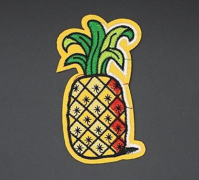 P-351 PINEAPPLE PATCH FUTURE PINEAPPLE EMBROIDERED APPLIQUE PATCH ODD