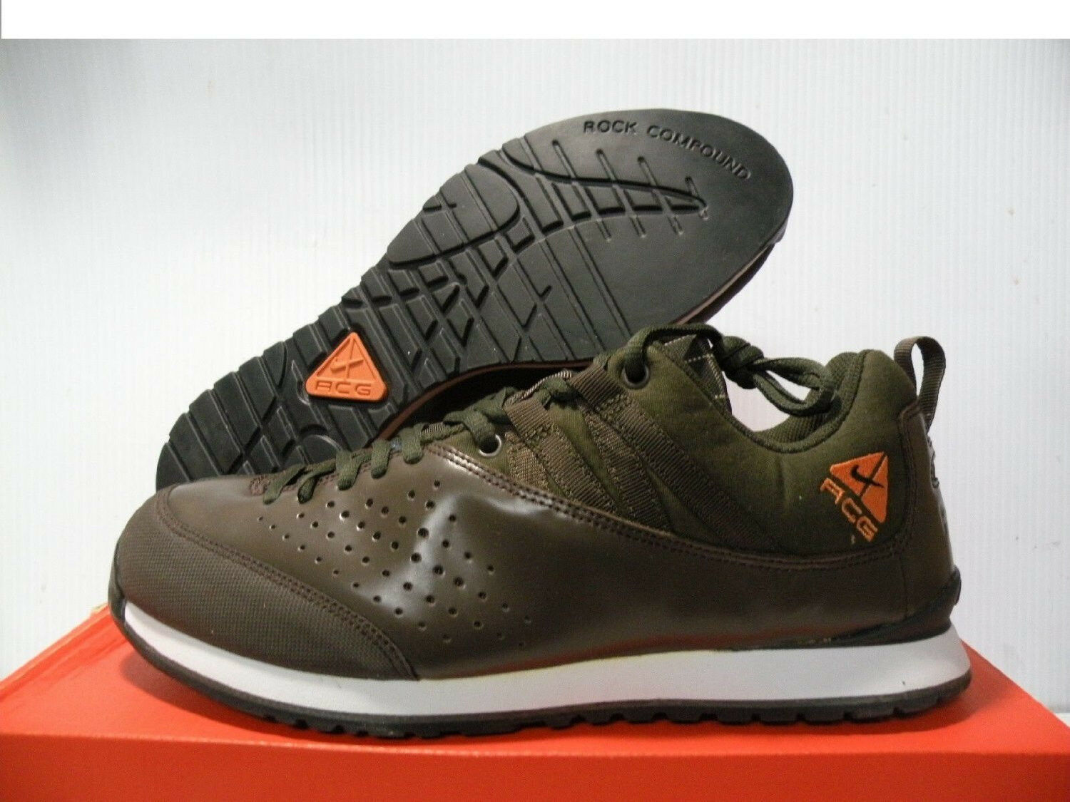 NIKE AIR OKWAHN LOW SNEAKERS MEN SHOES BROWN/GREEN 314-281 SIZE 9.5 NEW