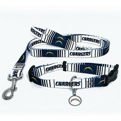 San Diego Chargers NFL PET DOG COLLAR & LEASH & ID TAG Set (All Sizes)