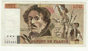 100 Francs Delacroix Type1978 O 2 Ttb