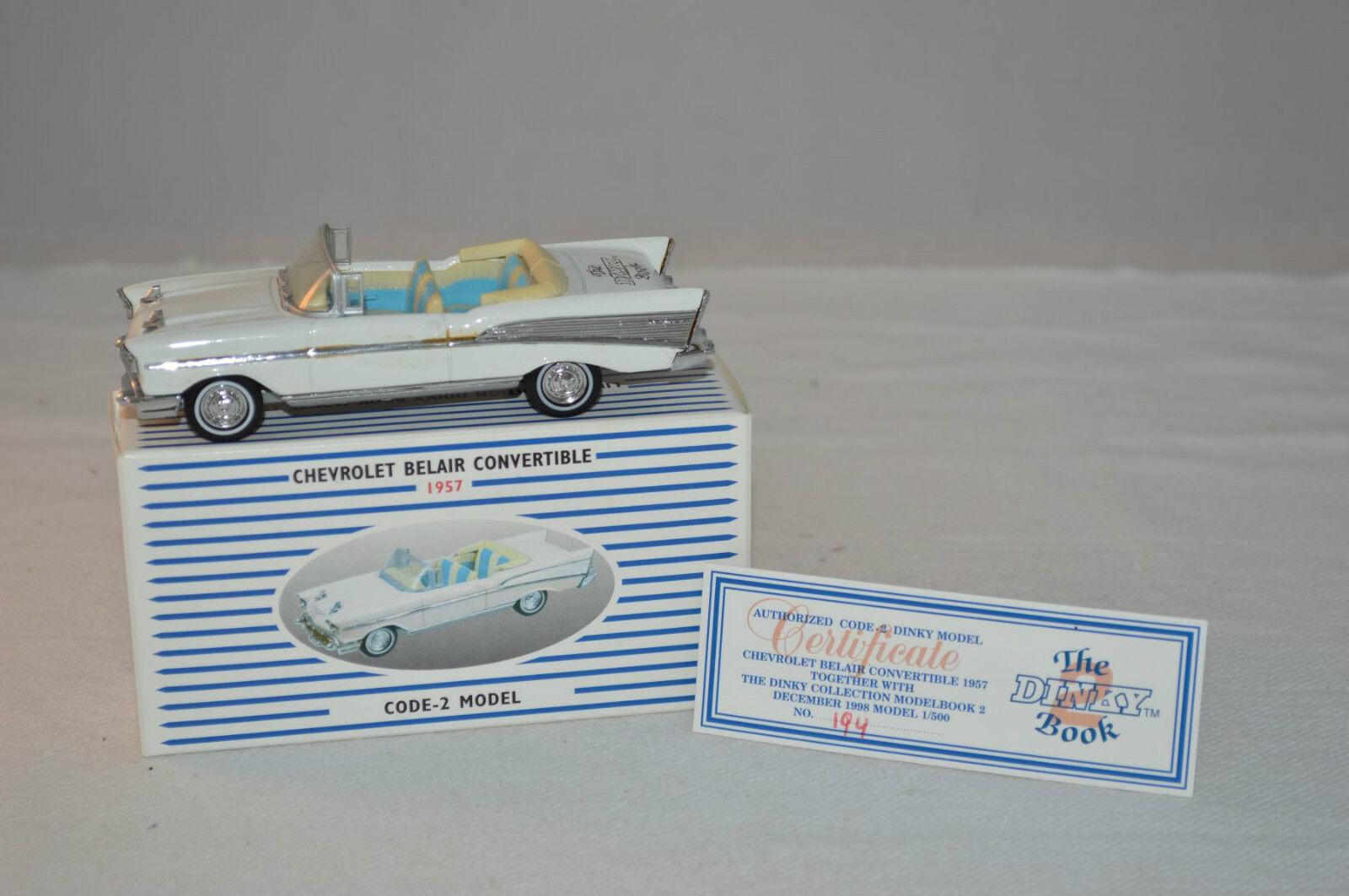 Dinky - Matchbox book car 1:43 chevrolet belair 1957 code 2 no 003 rare selten