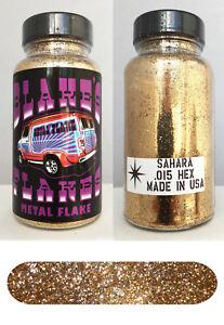 Utile Blakes Métal Flocon .015 Sahara Or Hot Rod Custom Automobile 5oz Jar 100% D'Origine