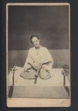 "Seppuku ""Harakari"" Japanese Actor in Role of a Samurai Warrior Antique CDV Photo"