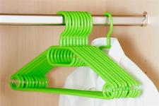 10er Pack Kleiderbügel aus Kunststoff weiß Breite 40cm Kesper