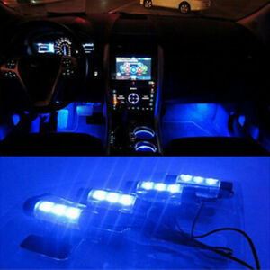 4x-3LED-Car-Charge-Interior-Accessories-Blue-Atmosphere-Lamp-Floor-Decor-LigWZBH