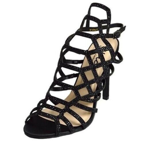 Lady Couture Women/'s Kent Classic Gladiator Embellished Heels Black