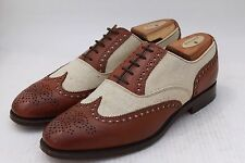 Brooks Brothers Peal Co by Alfred Sargent Brown Linen & Calf Spectator 9.5 D