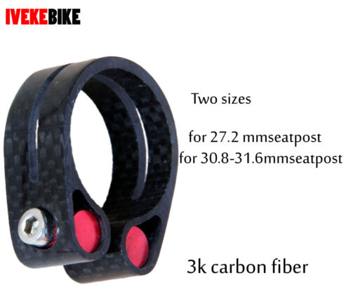 bicycle carbon fiber MTB road bike seatpost clamps 34.9  for 27.2 30.8 31.6 mm