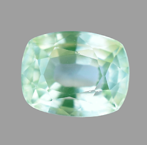 Natural Green Apple Peridot Cushion 5.95 Ct Top Quality Certified Gemstone