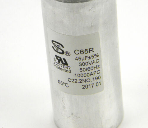 -5/% 300VAC Capacitor for Whirlpool WDH70EAPW 70 Pint Dehumidifier C65R 45uF
