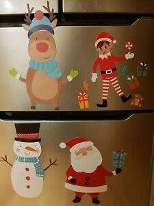 Natale-sul-Frigo-Magneti-Magnete-Congelatore-Natale-Decorazione-Armadietti-Bambini-Gioco