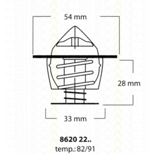 Triscan Thermostat für Opel Ascona Astra Kadett Rekord Vectra