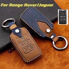 Leather Car Smart Key Fob Case Cover Holder For Range Rover Sport Evoque Jaguar Fits More Than One Vehicle