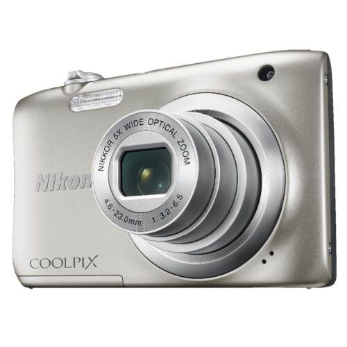 1 of 1 - NIKON COOLPIX A100 DIGITAL CAMERA  (silver)*   ** BUNDLE KIT **