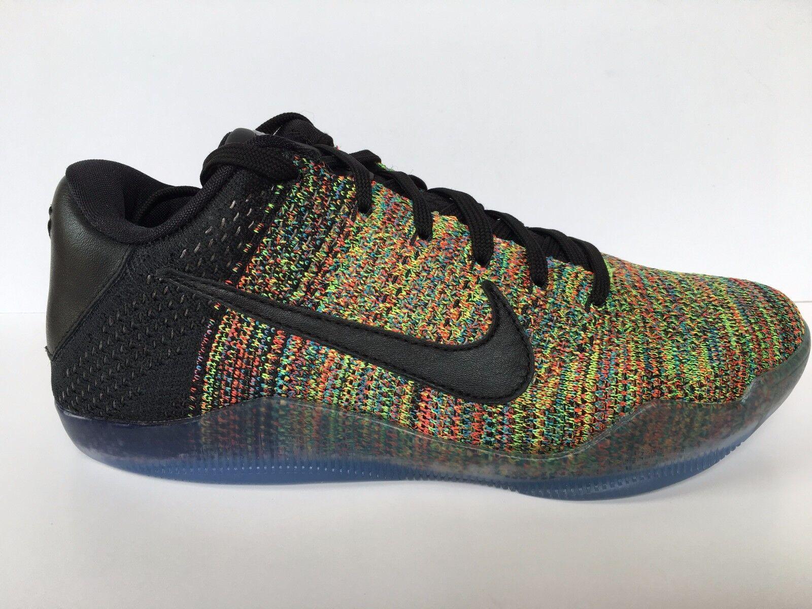 low priced cbcab 2f5b2 ... Nike Kobe XI Elite Low Flyknit iD Multicolor Multicolor Multicolor 2016  Men SZ 8  903710 ...