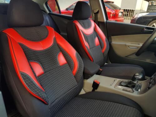 Schonbezüge Autositzbezüge für Fiat Tipo schwarz-rot V158458 Vordersitze