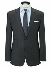 John Lewis Prince Of Wales Check Pure Wool Blazer / Jacket Charcoal UK Size 42R