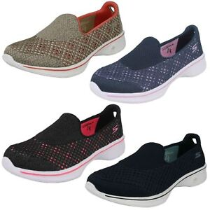 Details about Ladies Go Walk 4 Slip On GoGa Max Light Weight Skechers Kindle : 14145