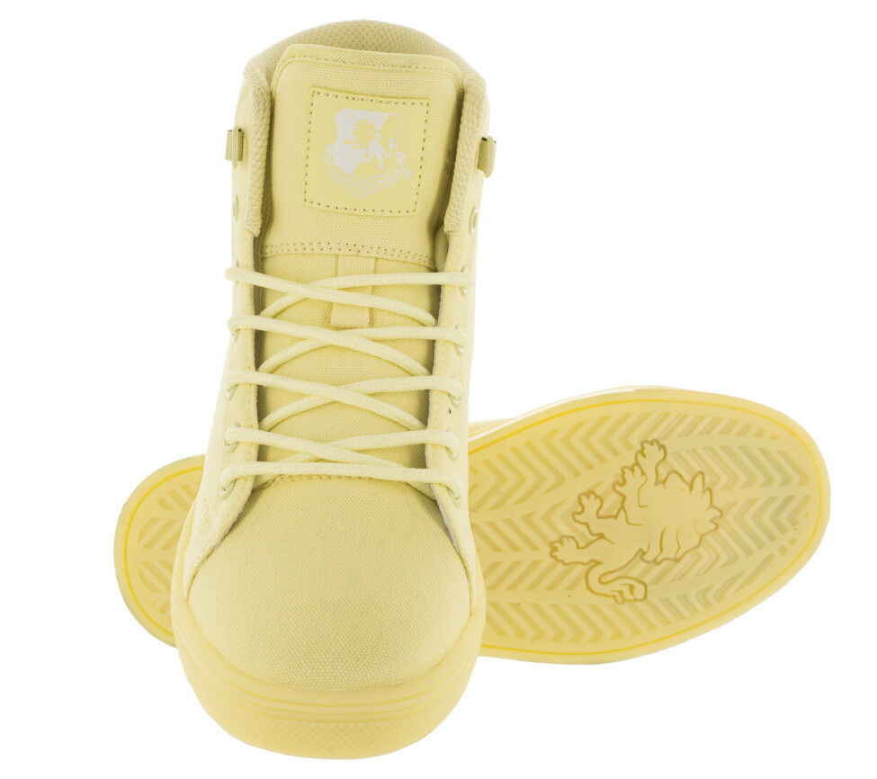 Vlado Footwear Women's Athena Hi-Top shoes Pastel Yellow IG-2730W-11