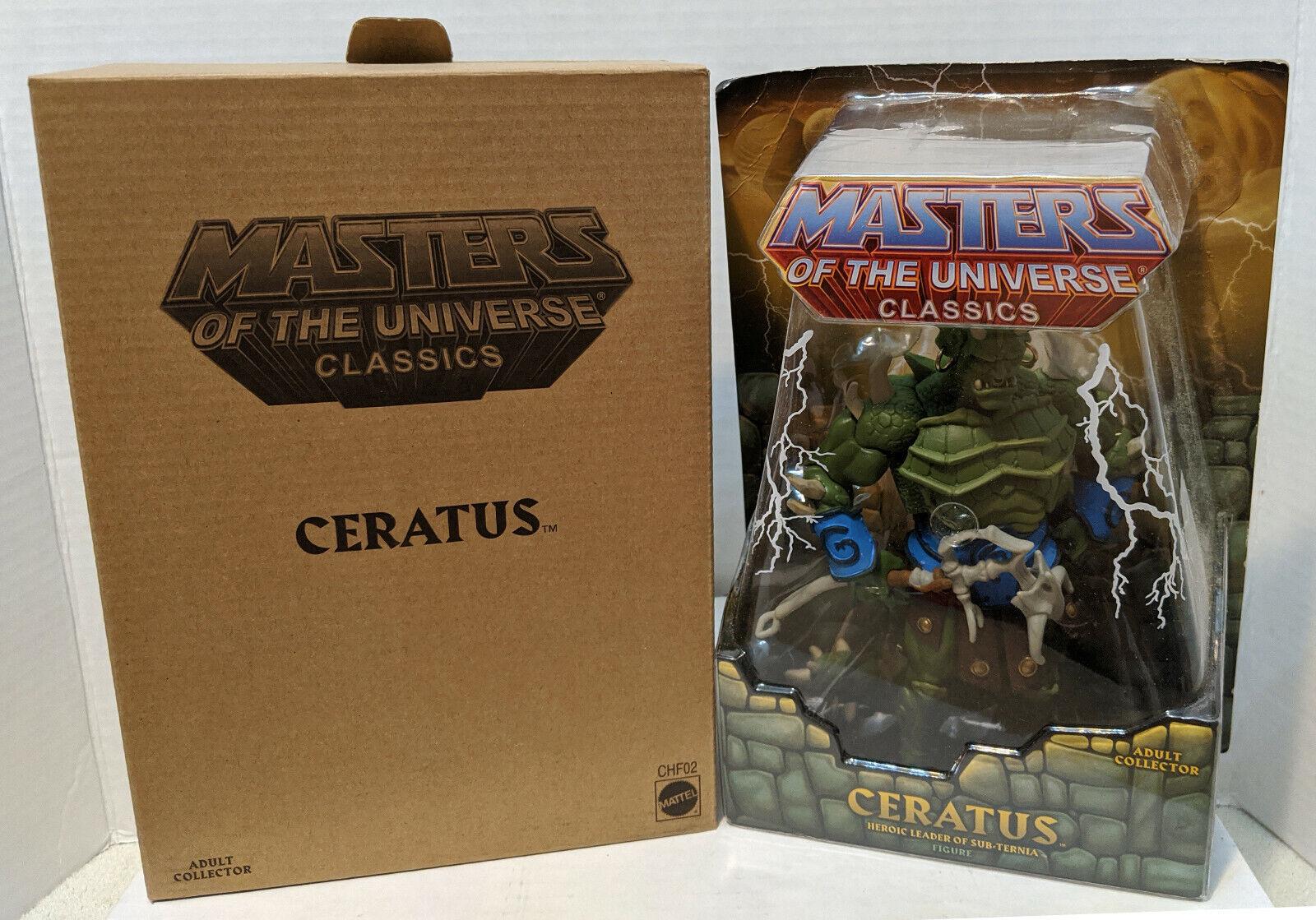 MOTUC Masters of the Universe Classics Ceratus Action Figure w mailer MOC NEW