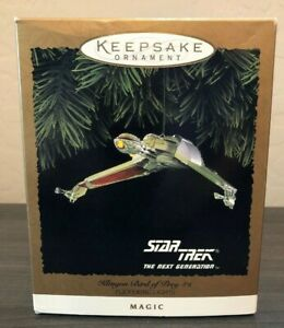 Hallmark-STAR-TREK-Ornament-KLINGON-BIRD-OF-PREY-1994-Next-Generation-Lights