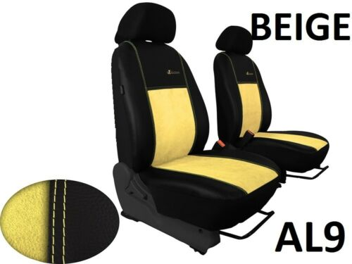 FIAT DUCATO VAN 2014 ONWARDS ECO LEATHER /& ALICANTE TAILORED SEAT COVERS