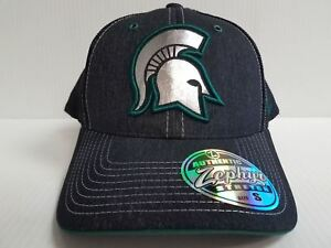 the latest 04e9f faf2b Image is loading Michigan-State-Spartans-Cap-Zephyr-Stretch-Fit-Fitted-