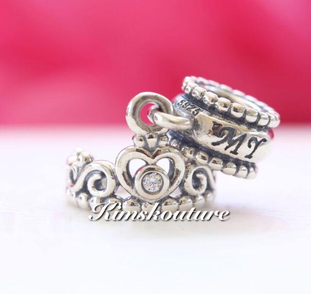 a705d5b3b Authentic Pandora My Princess Tiara Dangle Sterling Silver Charm 791117CZ