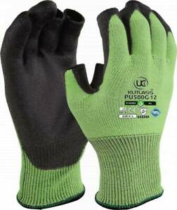 Safety UCI Kutlass PU300-Grey Palm Coated Cut Resistant Gloves Size 11 XXL