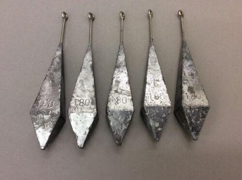 Brandungsblei Pyramide mit Edelstahlstab und Öse 10 Stück a 180g   1Stück//1,79€