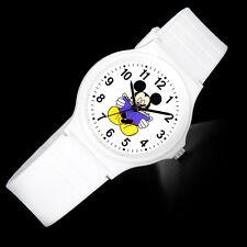 Walt Disney Princess Mickey Mouse Women Lady Fashion White Wrist Watch Gift