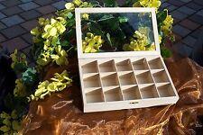 Setzkasten Sammler Box Holz für Steine uvm. Mineralien Knöpfe VERSANDKOSTEN FREI