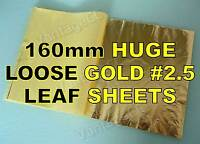 25x Gold #2.5 Loose Leaf Sheets in Booklets, 160mm! Gilding Crafts Scrapbooking