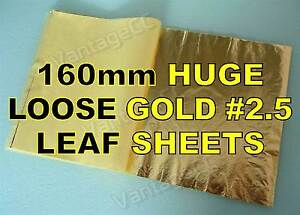 100x-Gold-2-5-Loose-Leaf-Sheets-in-Booklets-160mm-Gilding-Crafts-Scrapbooking